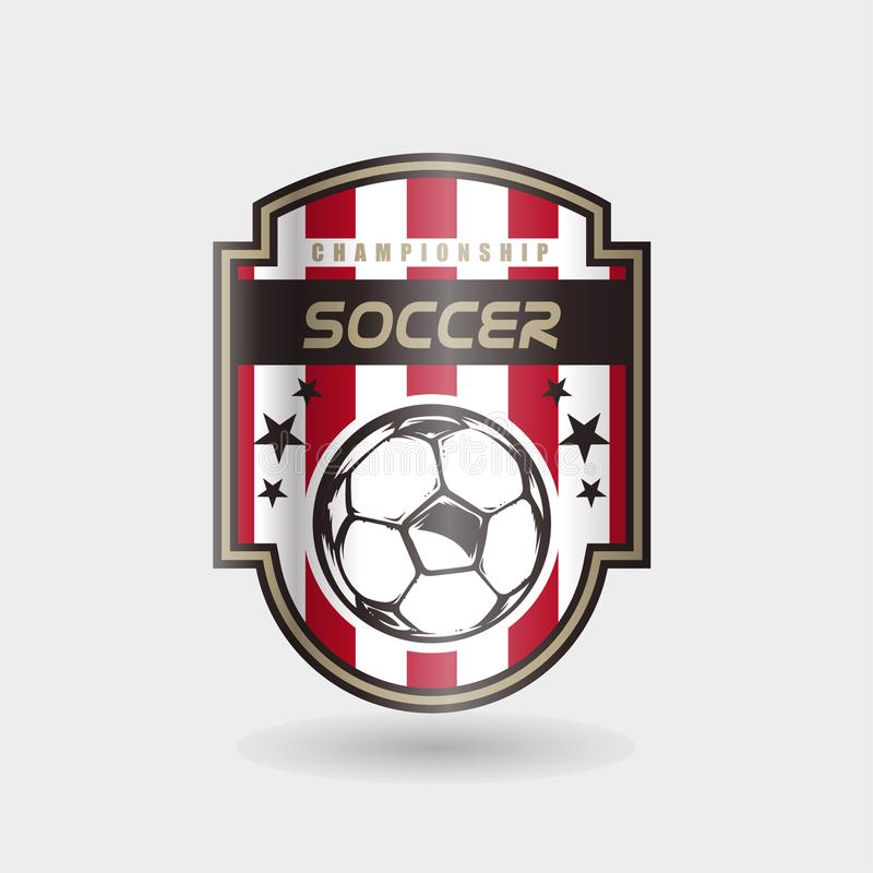 Insignia Logo Design Templates del fútbol del fútbol | Deporte Team Identity Vector Illustrations aislado en el fondo blanco libre illustration