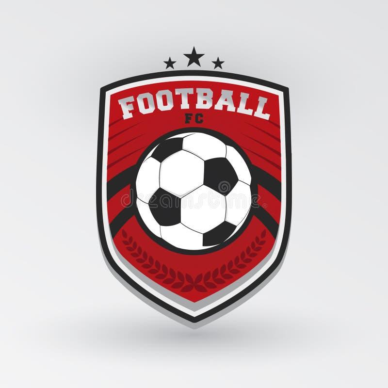 Insignia Logo Design Templates del f?tbol del f?tbol | Deporte Team Identity Vector Illustrations aislado en fondo azul ilustración del vector