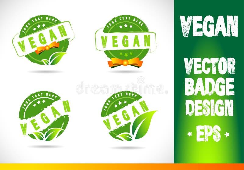 Insignia Logo Vector del vegano ilustración del vector