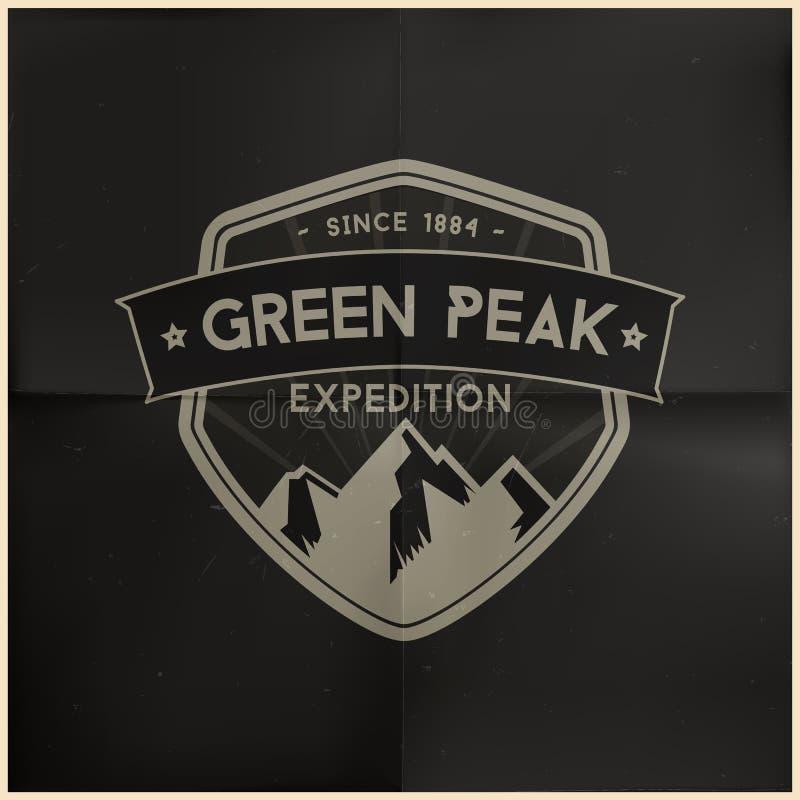 Insignia máxima verde de la expedición stock de ilustración