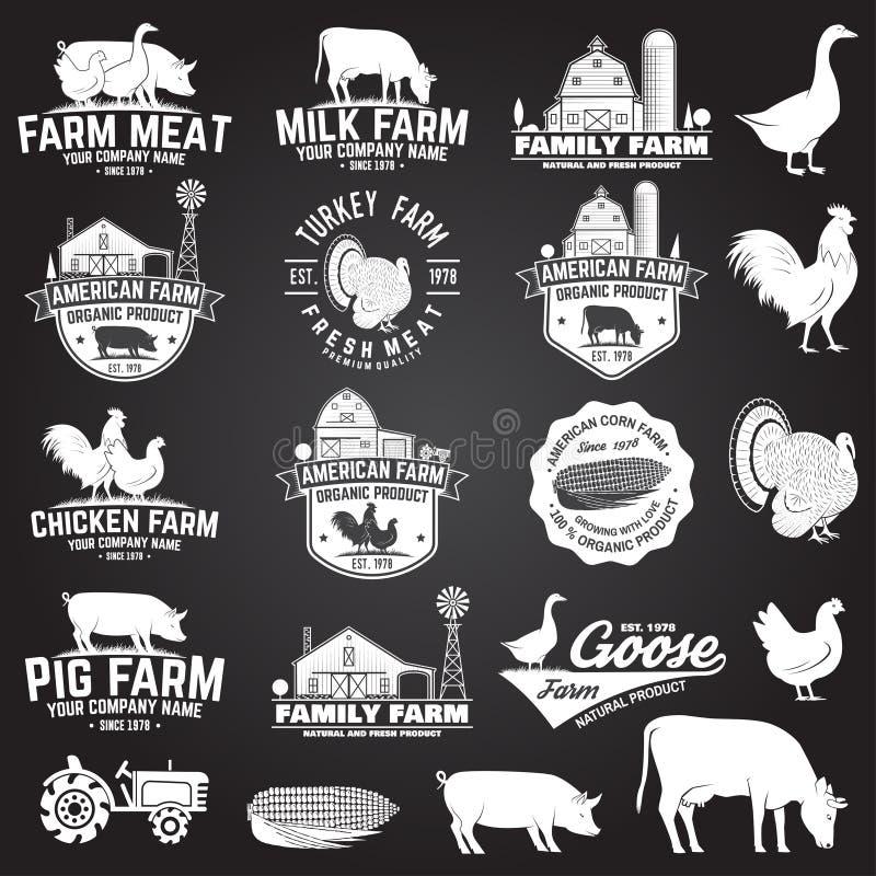 Insignia o etiqueta americana de la granja Ilustración del vector libre illustration