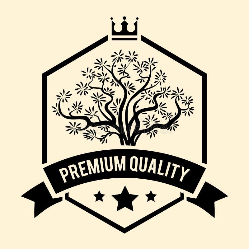 Insignia o etiqueta superior de la calidad para Olive Oil ilustración del vector