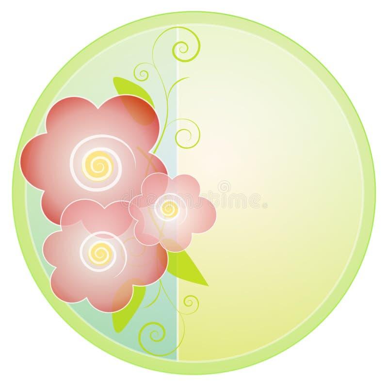 Insignia o icono del flor de la flor stock de ilustración