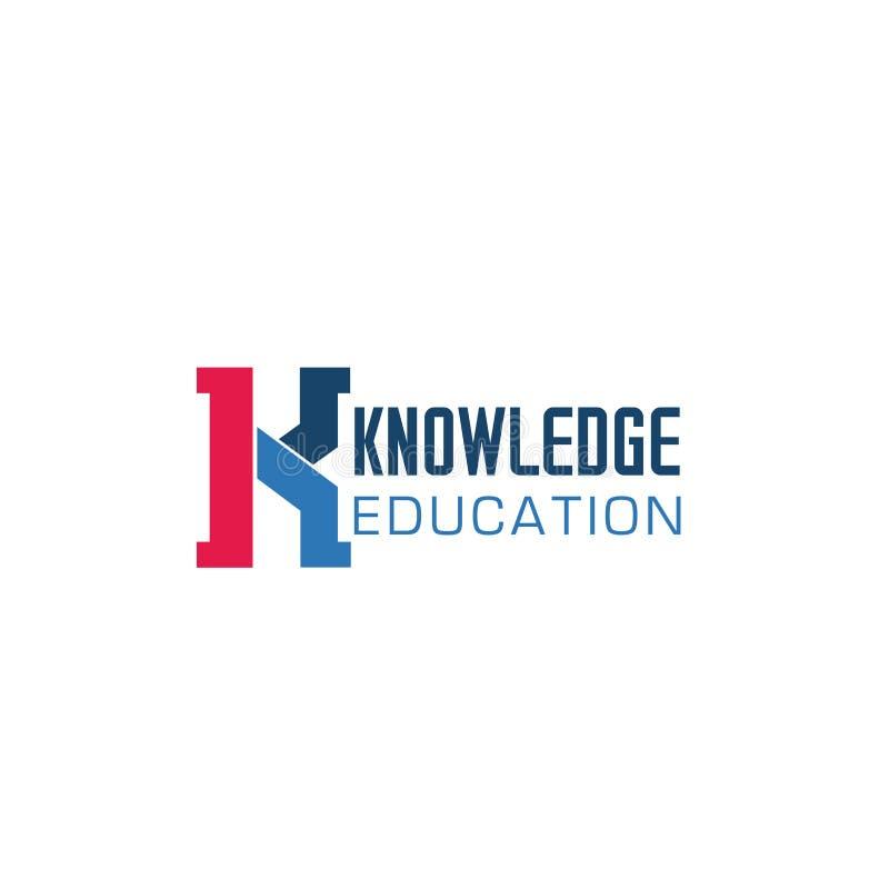 Insignia para el knowladge o la educación libre illustration