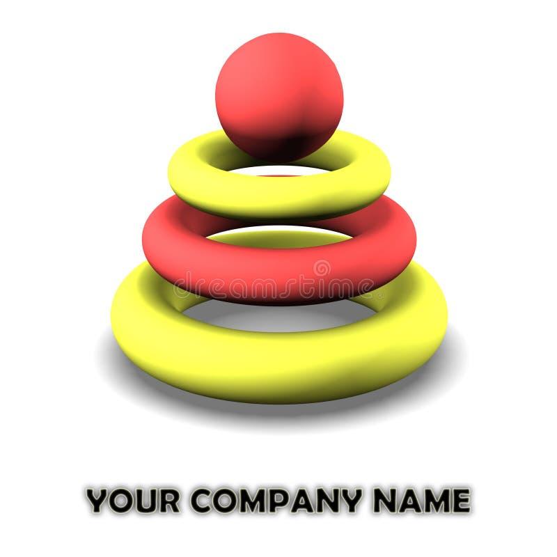 Insignia para la compañía moderna stock de ilustración