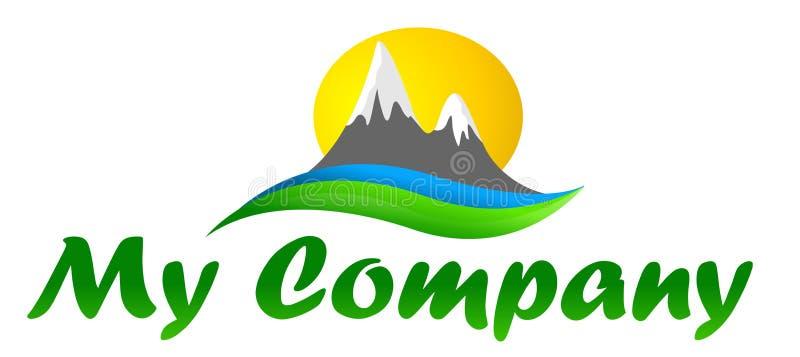 Insignia para las compañías del turismo stock de ilustración