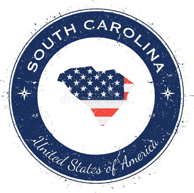 Insignia patriótica circular de Carolina del Sur libre illustration