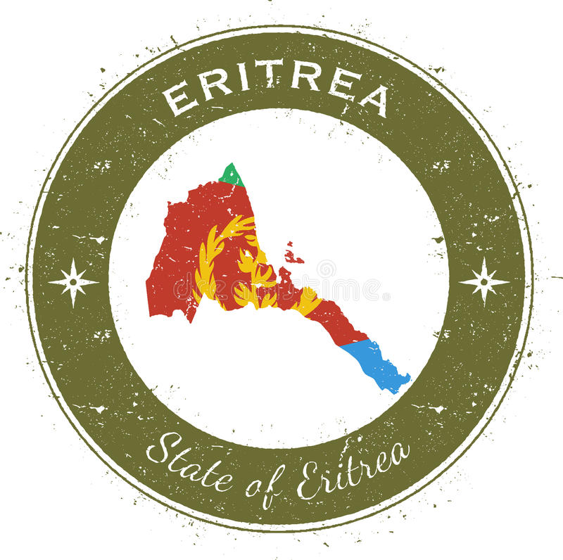Insignia patriótica circular de Eritrea libre illustration