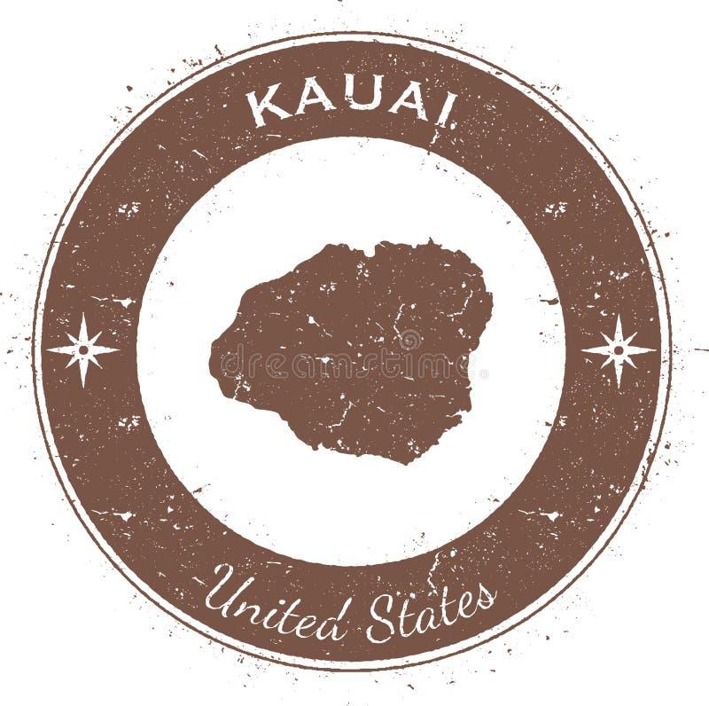 Insignia patriótica circular de Kauai ilustración del vector