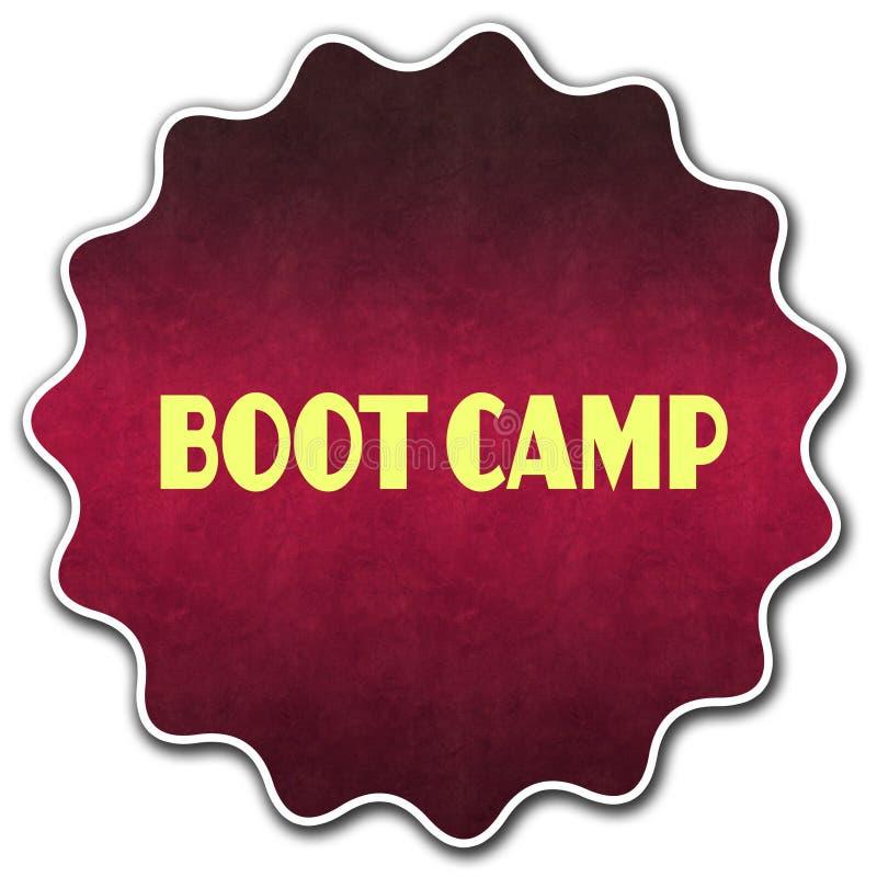 Insignia redonda de BOOT CAMP ilustración del vector