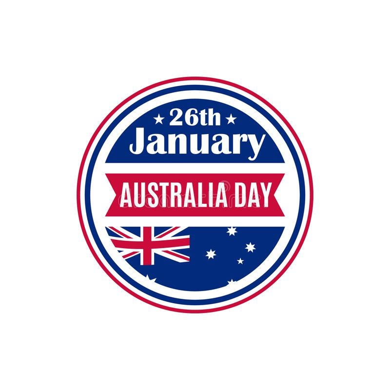 Insignia redonda del día de Australia ilustración del vector