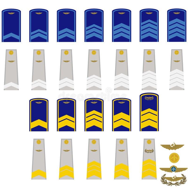Insignia in RF civil aviation vector illustration