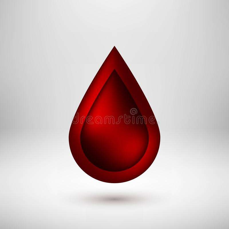 Insignia roja del icono de la burbuja con el fondo ligero libre illustration