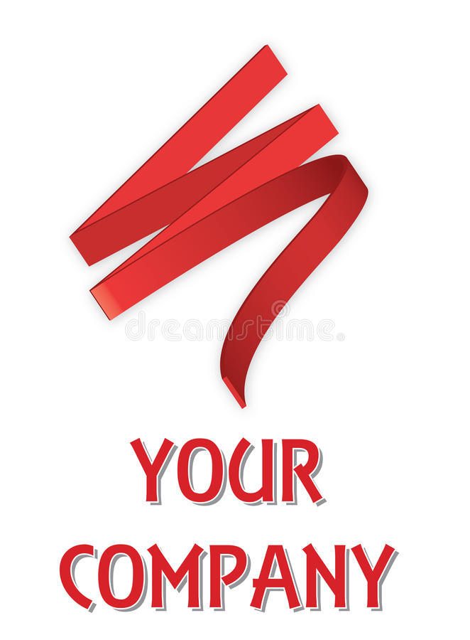Insignia roja simple libre illustration
