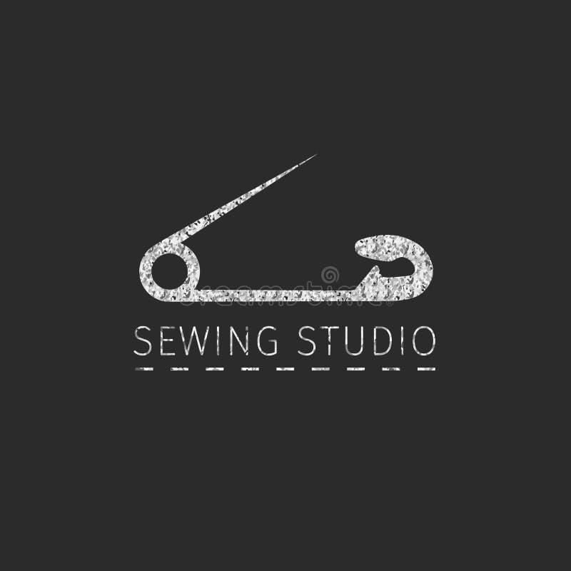 Insignia simple de costura stock de ilustración