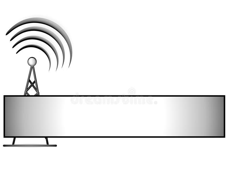 Insignia sin hilos del Web page de la torre ilustración del vector