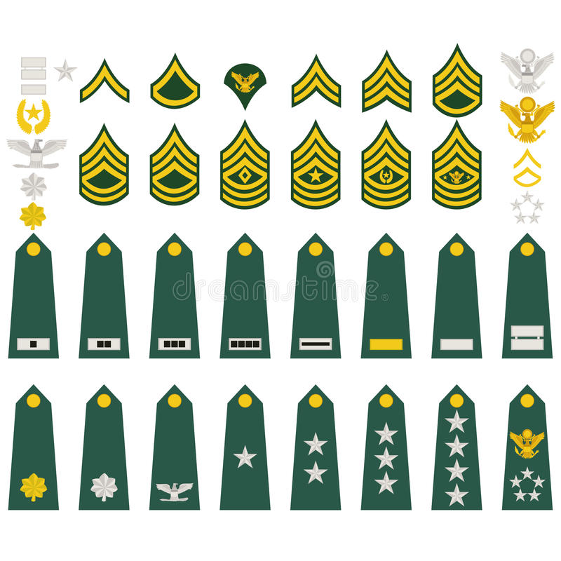 Download Insignia of the U.S. Army stock vector. Illustration of drawing - 27329218