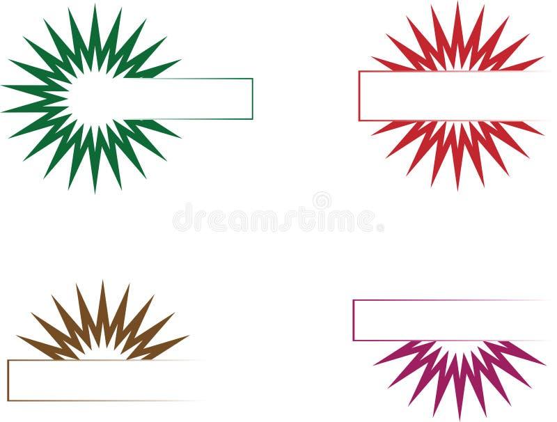 Insignia vacía ilustración del vector