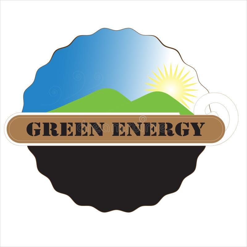 Insignia verde de la energ?a libre illustration
