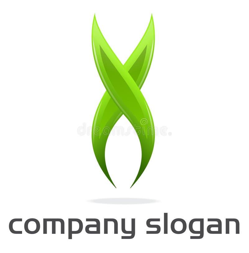 Insignia verde X ilustración del vector