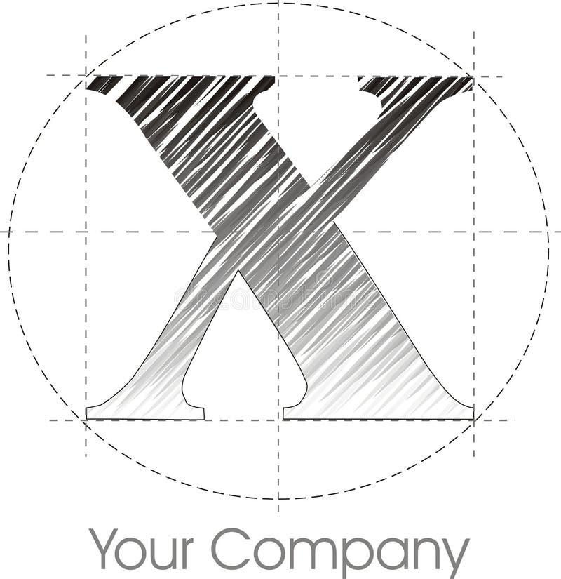 Insignia X ilustración del vector