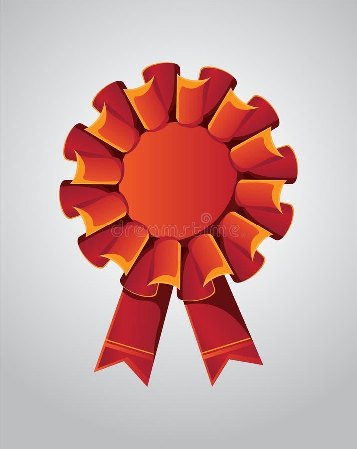 Insignia y cinta del premio del vector del color rojo Calidad superior libre illustration