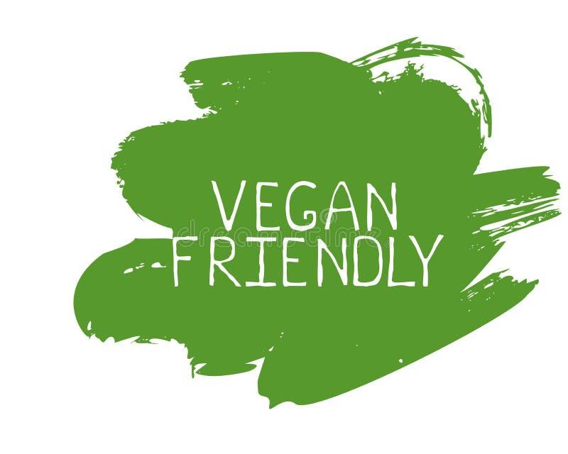 Insignias amistosas del etiqueta del vegano y de alta calidad del producto El bio hogar hizo comida el producto org?nico comida s libre illustration
