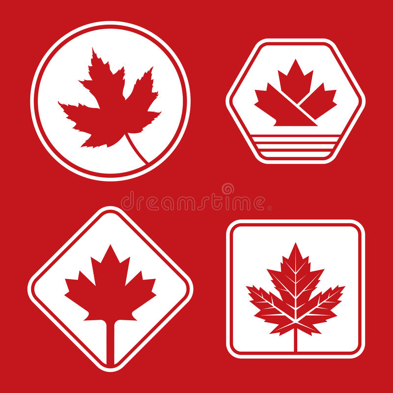 Insignias canadienses stock de ilustración