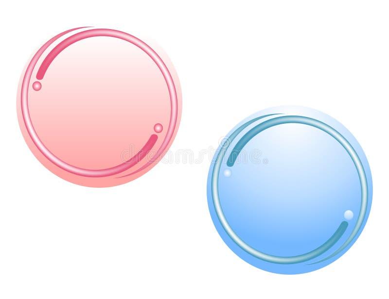 Insignias circulares del Web del gradiente stock de ilustración