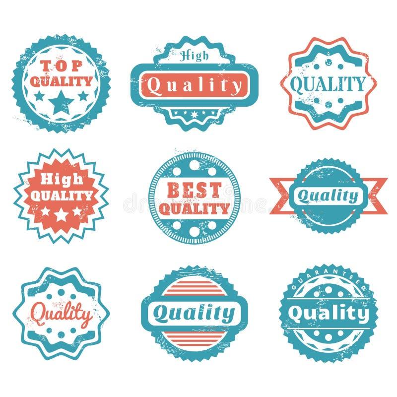 Insignias de la calidad libre illustration