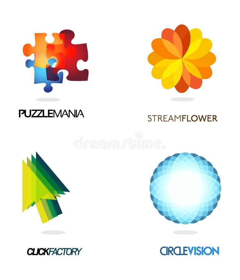 Insignias de la compañía stock de ilustración
