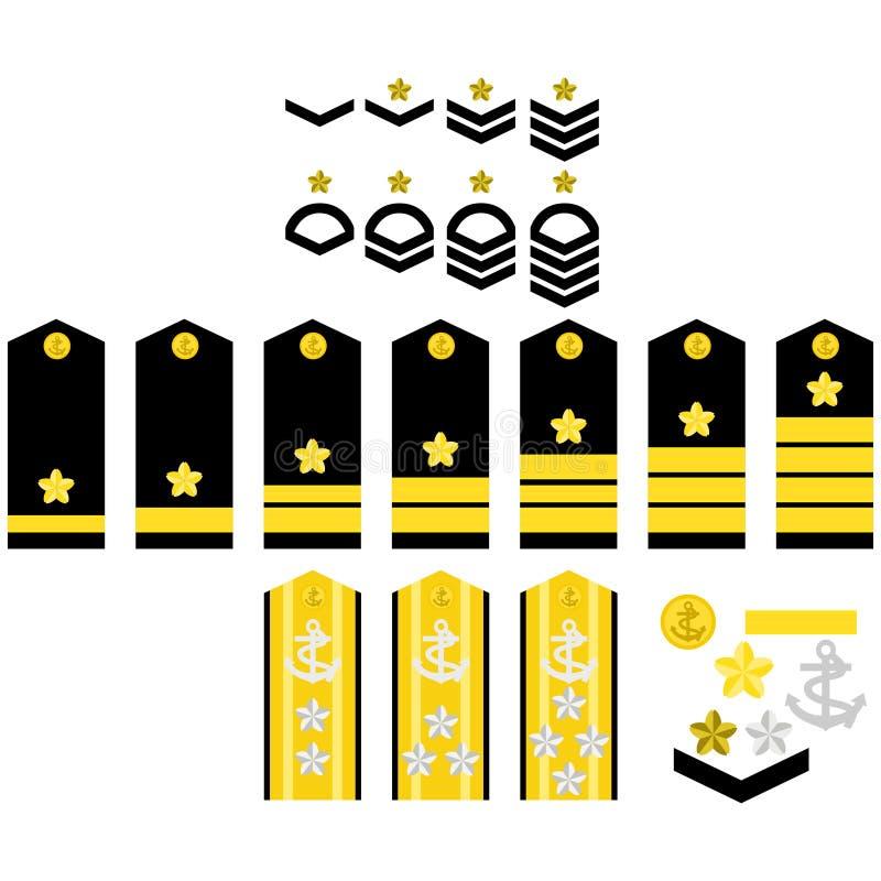 Insignias de la marina de guerra de Japón libre illustration