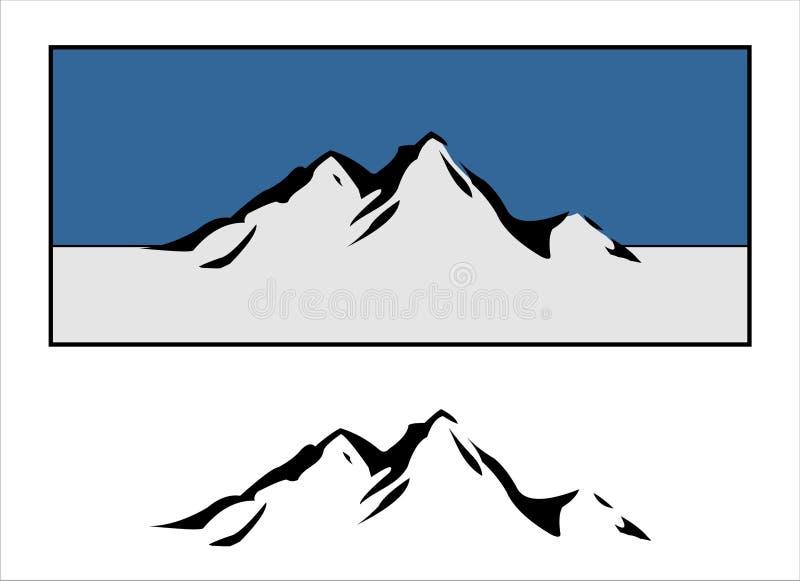 Insignias de la montaña stock de ilustración