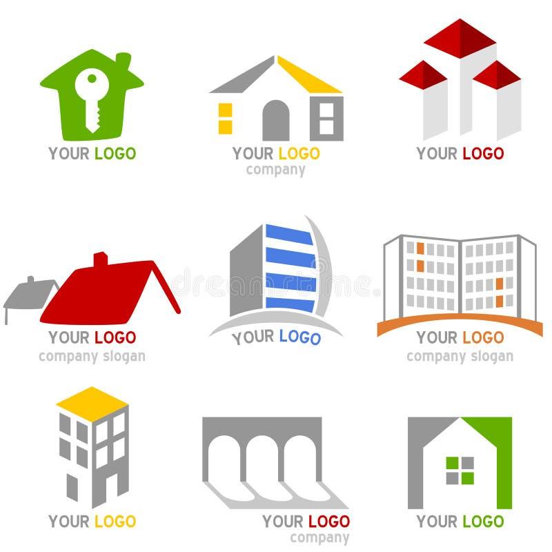 Insignias de las propiedades inmobiliarias fijadas libre illustration