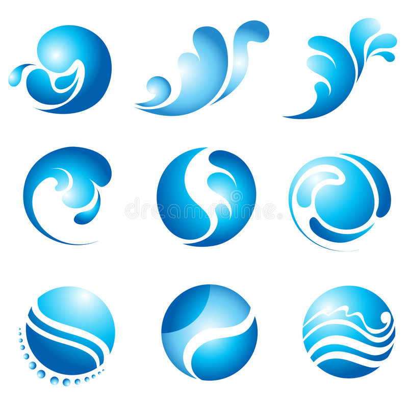 Insignias del agua libre illustration