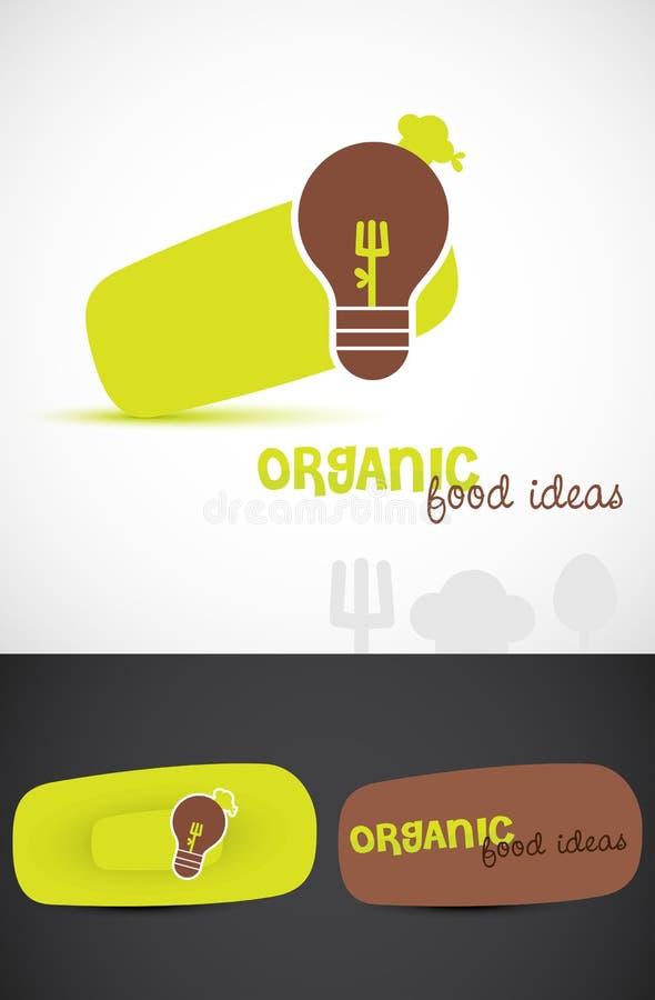 Insignias del alimento biológico stock de ilustración