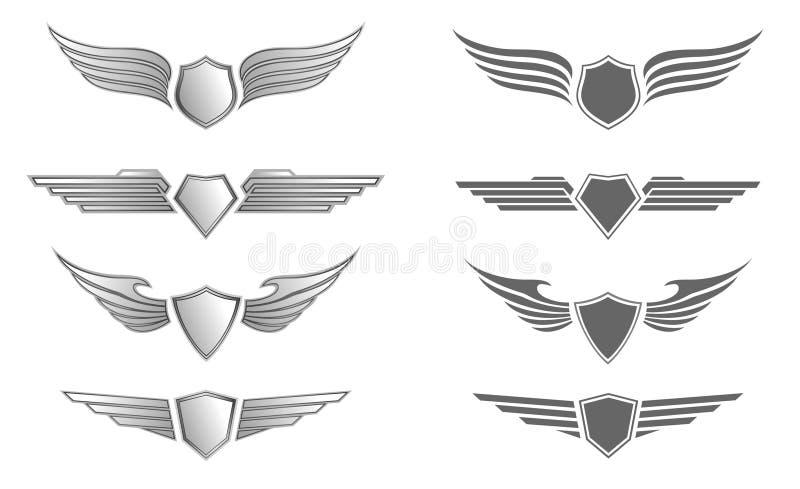 Insignias del blindaje ilustración del vector