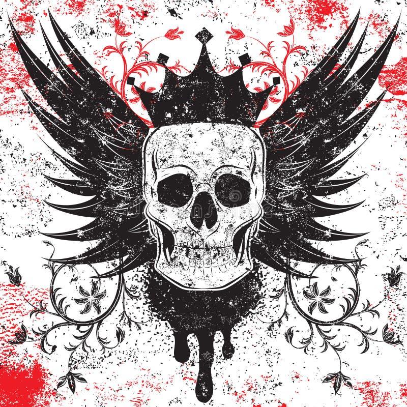 Insignias del cráneo ilustración del vector