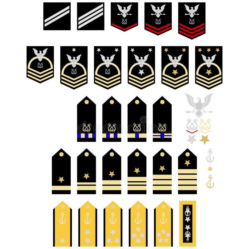 Insignias del ejército americano S neatness stock de ilustración