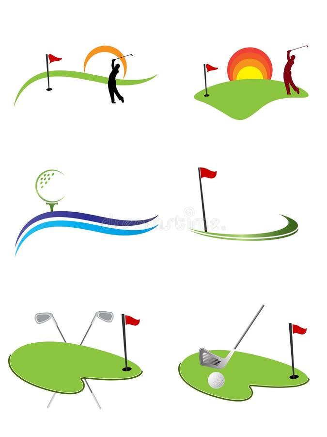 Insignias del golf stock de ilustración