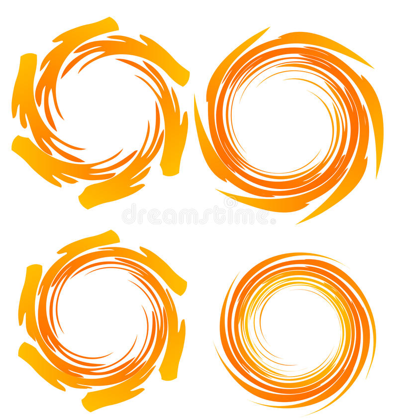 Insignias del grunge de Swirly ilustración del vector