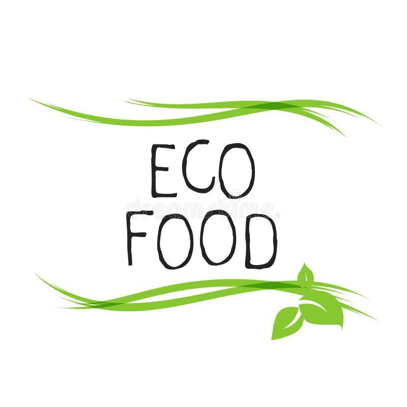 Insignias libres del etiqueta de la comida del gluten y de alta calidad del producto Bio Ecohealthy org?nico, 100 bio e icono del stock de ilustración
