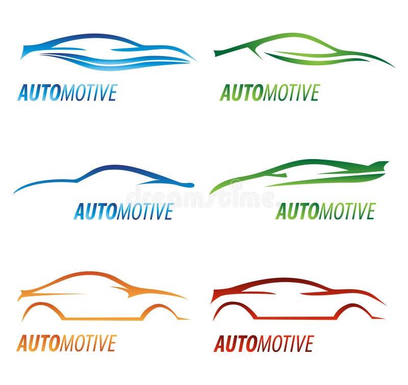 Insignias modernas del coche ilustración del vector