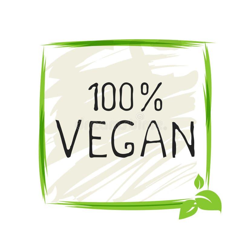 Insignias org?nicas sanas del etiqueta del producto 100 naturales del vegano bio y de alta calidad del producto Eco, 100 bio e ic libre illustration