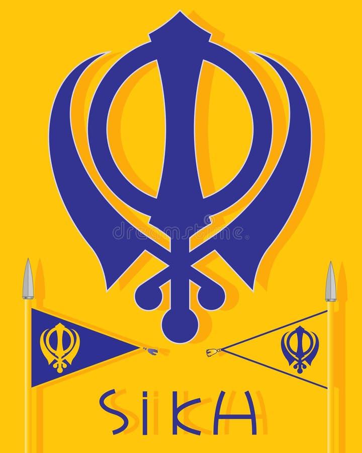 Insignias sikh ilustración del vector
