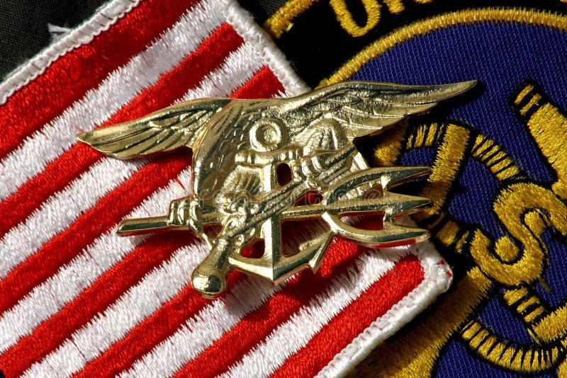 Insignias TRIDENT de los Navy Seals fotografía de archivo libre de regalías