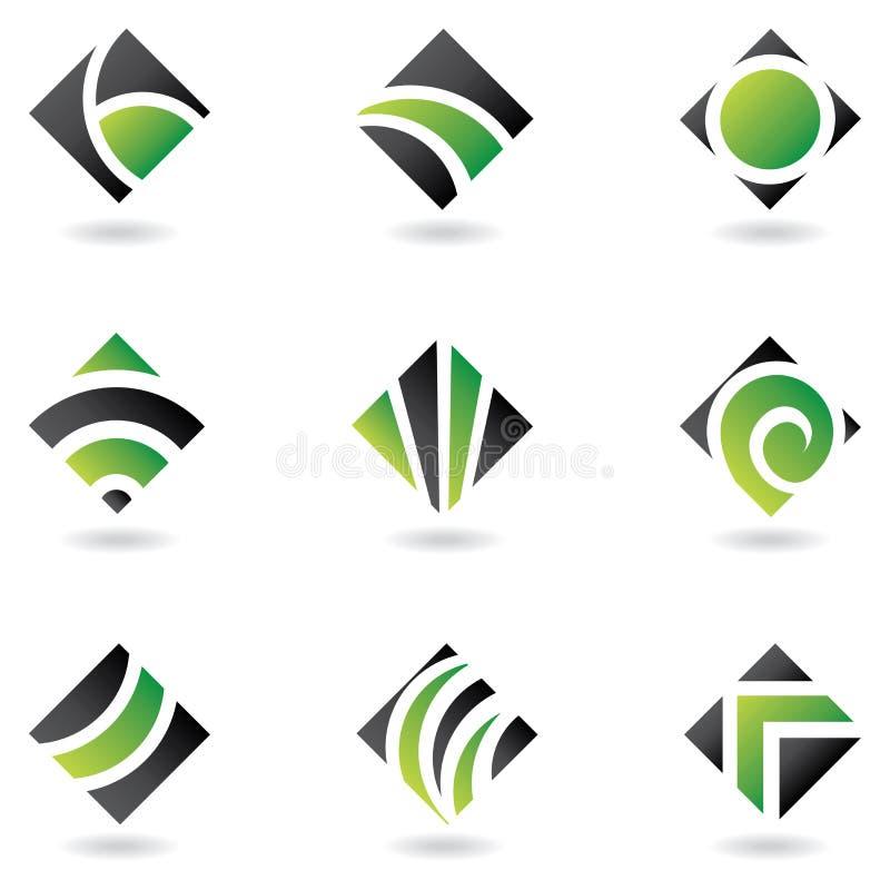 Insignias verdes del diamante libre illustration