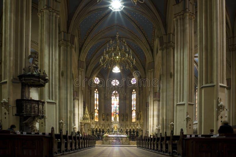 Insite de Kathedraal stock afbeeldingen