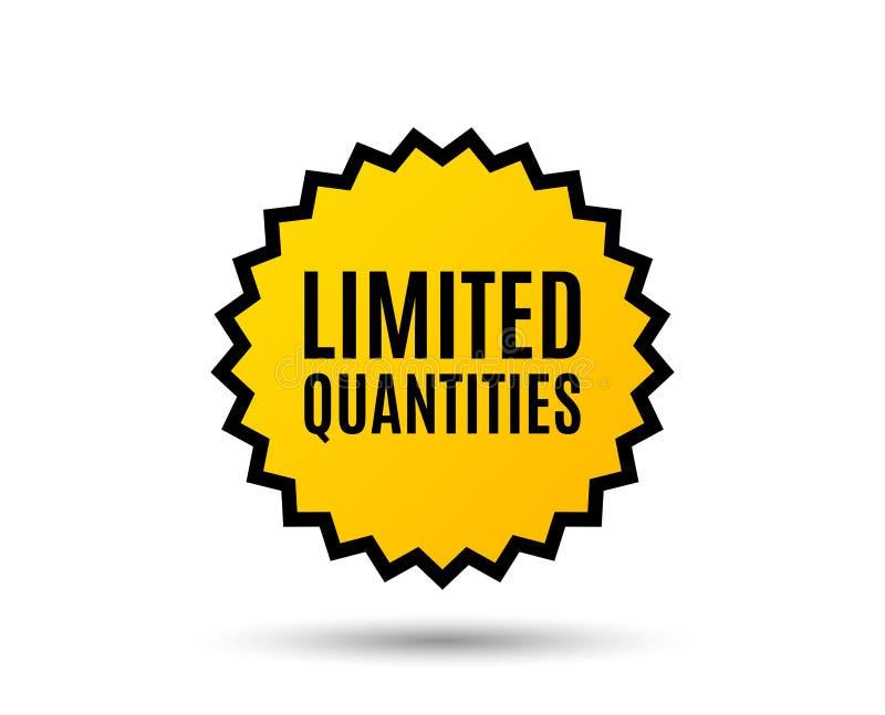 Inskränkt antalssymbol Tecken för specialt erbjudande royaltyfri illustrationer