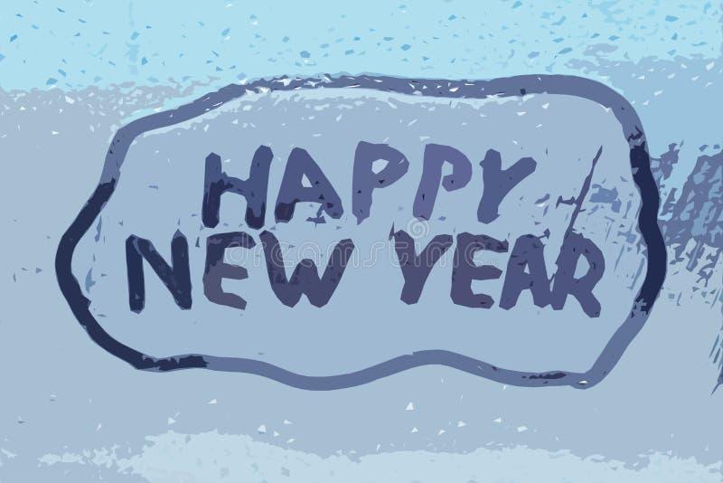 Inskriften & x22en; lycklig ny year& x22; fotografering för bildbyråer